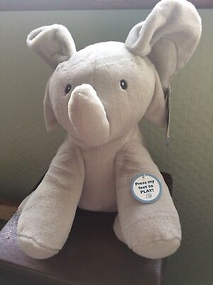 NEW Baby Gund Flappy The Elephant 26cm High Soft Animal Toy Sing & Play