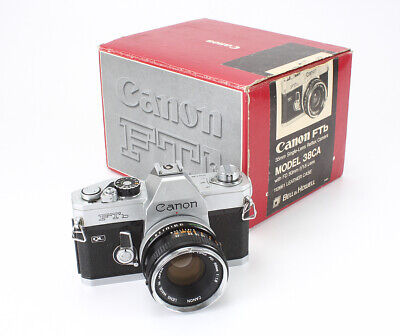 CANON FTb QL CHROME, 50/1.8 CANON FD (DUST), BOXED, SOME ISSUES/193759