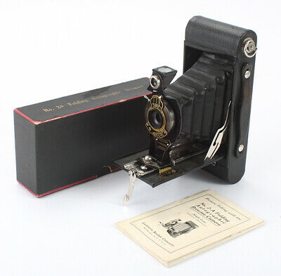 KODAK NO. 2A FOLDING AUTOGRAPHIC BROWNIE, BOXED, SHUTTER ISSUE/cks/196710