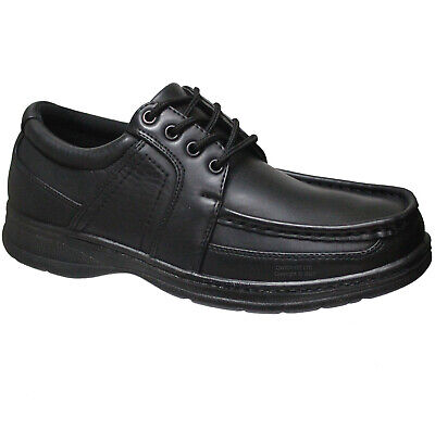 New Mens Comfort Xtra Black Shoes Formal Dress Office Work Casual Size 6-14 Uk