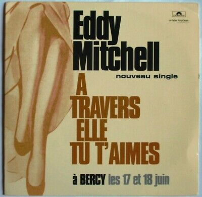 "Eddy Mitchell - Cd Single Promo ""A Travers Elle Tu M'aimes"""