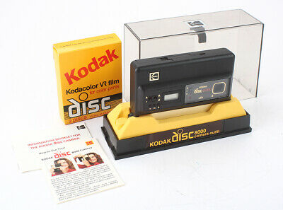 KODAK DISC 8000 + FILM + DISPLAY CASE, APPEARS DEFECTIVE, FOR display/cks/195624