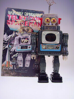 "gsTOP GSR ROBOT ALPS JAPAN ""TELEVISION SPACEMAN VERSION 1"" 1961, NEARLY NEU/NEW"