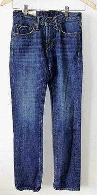 Abercrombie & Fitch Kids The A&F Skinny Dark Wash Blue Denim Jeans Boys 12 Slim