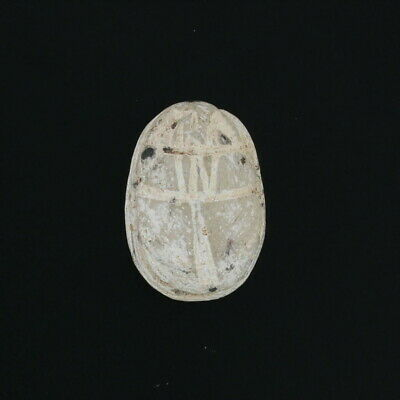 Ancient Egyptian Relic Stone Scarab with Wax Seal - Carved Bead Artifact
