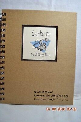Write It Down CONTACTS My Address Book  Journal by Barbara Morina  Never Used