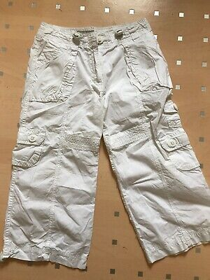 White Cropped Trousers Age 9-10