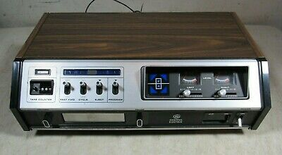 Vintage 1970's General Electric Model TA 640A 8 Track Tape Player Recorder Japan