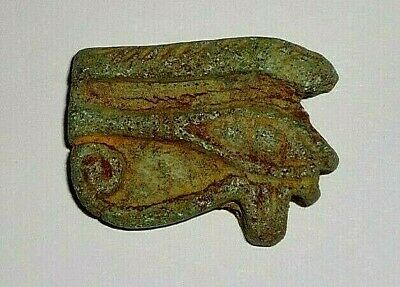 Eye Of Horus Wadjet Egyptian Ancient Faience Amulet 1648 to 1455 BC From Egypt