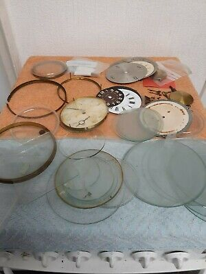 Vintage Clock Parts And Clock Glass Fronts