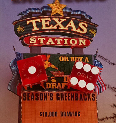 Texas Station Casino - Red Craps Table Dice - Las Vegas - Matched Pair - 0332