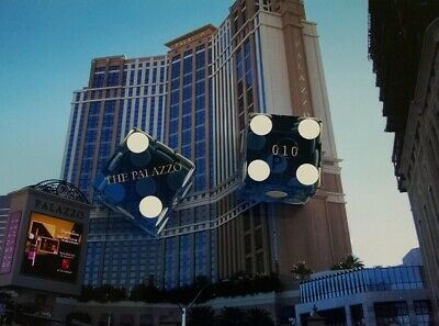 The Palazzo Casino -  Blue Craps Table Dice - Las Vegas Nv - Matched Pair - 010
