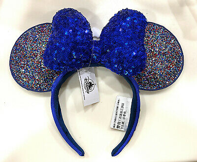 Disney Parks 2020 Mickey Minnie Mouse Sparkle Ears Sequin Bow Headband NEW