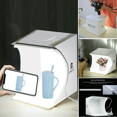 Professional Portable Mini Lightbox Studio LED Photo Shoot Box 6 Backdrop Kit AU