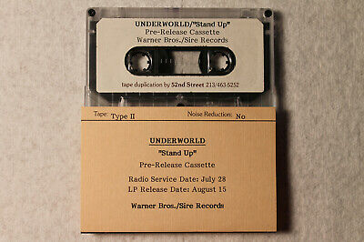 Underworld - Stand Up US orig' promo cassette electro synth