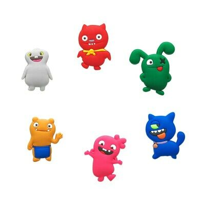 6pcs UglyDolls PVC Shoe Charms Buckles Fit for Bracelets Bands Shoes Xmas Gifts