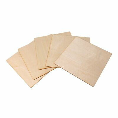 5PCS Basswood Wooden Sheets For DIY Crafting Woodworking 200 x 200 x 1.5mm