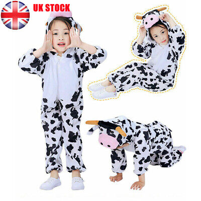 Children Christmas Fancy Dress Kids Animal Character Costume Cow Outfit Xmas UK