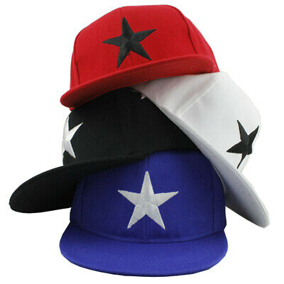 Boys Girls Sports Summer Outdoor Kids Star Embroidery Baseball Cap Wide Brim