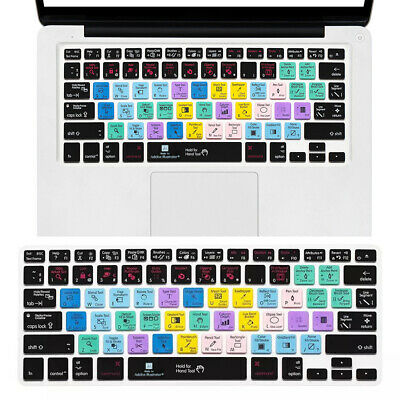Silicone  Shortcut keys Keyboard Cover Skin for MacBook Pro 13