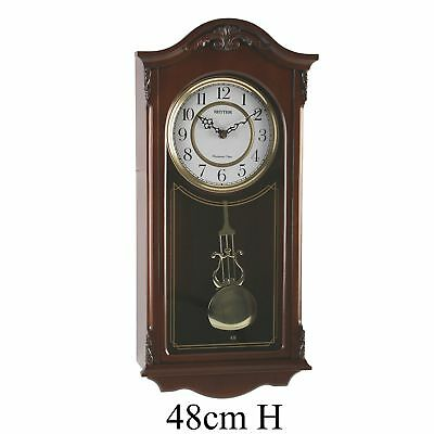 Deluxe Wooden Pendulum Wall Clock - Westminster Chime