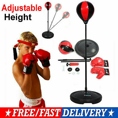 Junior Boxing Set Kids Punch Bag Ball Training Free Standing Punching Bag Gifts