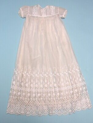 Vintage Lace Christening gown with silk underskirt