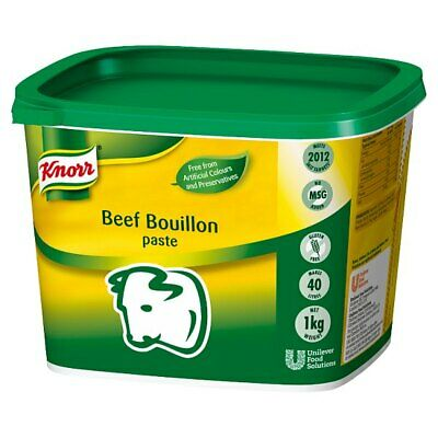 Knorr Gluten Free Beef Paste Bouillon - Large Catering 1kg Tub - Makes 40 Litres