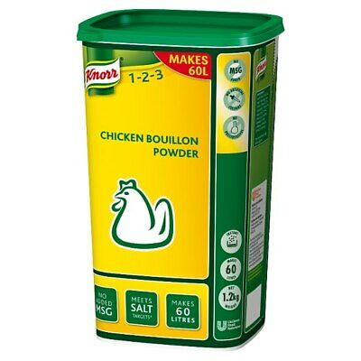 Knorr Chicken Powder Bouillon - Large Catering 1.2Kg Tub - Makes 60 Litres