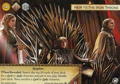 A Game of Thrones Promo Card - Heir to the Iron Throne