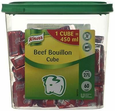 Knorr Beef Bouillon Cubes - Large Catering Tub - 60x 450 ml - Makes 27 Litres