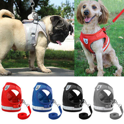 Non Pull Dog Harness Adjustable Soft Padded Vest Small Medium Mesh Jacket XS-XL