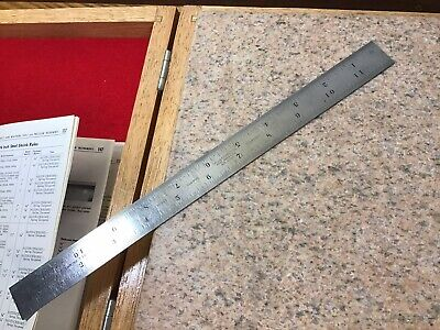 "Starrett 12"" Shrink Rule / Scale No. 393 Tempered Tool - Patternmaker Woodwork"