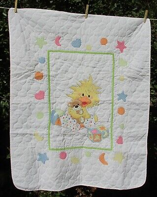 Janlynn Little Suzy's Zoo Witzy Completed Cross Stitch Baby Crib Quilt 038-0170