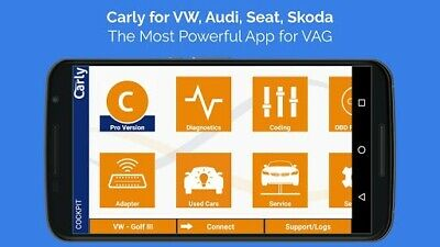 Carly VAG Pro | Android App | 2019 Full Version | OBD Bluetooth | VW Audi Seat
