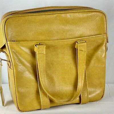 Samsonite Silhouette Harvest Gold Yellow Carry On Bag Travel Luggage Vintage