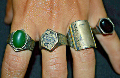 LOT OF 4 Superb Ancient SCANDINAVIAN ERA Highly Detailed Rings