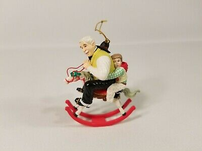 Gramps At The Reins Rocking Horse Christmas Tree Ornament 1933 SEPS Fine Quality