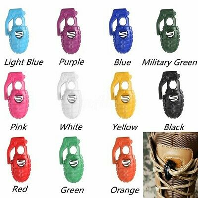 Green Single Hole Cord Stopper Lock Toggle Laces Stop End ⋆ Grenade Shape ⋆ G327