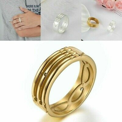 Atlantis Ring Stainless Steel Anillo Atlante Acero Inoxidable Gold And Silver