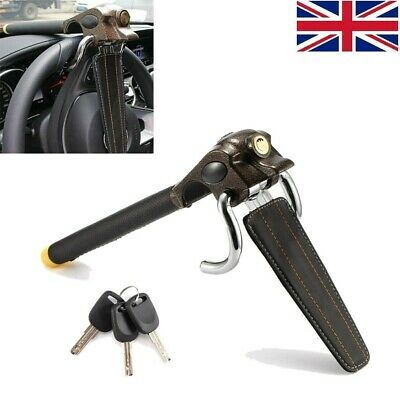 Universal Auto Antitheft Locking Car Steering Wheel Lock With Keys Security UK