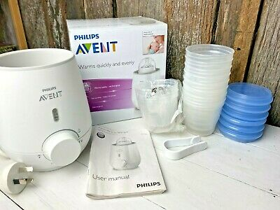 Philips Avent Electric Bottle And Baby Food Warmer  And Reusable Milk Storage