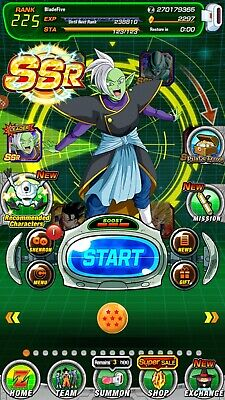 ⭐TRUNKS AND ZAMASU⭐DOKKAN BATTLE GBL 2297 DS farmed account ANDROID