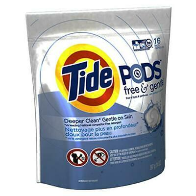 Tide 89885 16 Count Free & Gentle HE Laundry Pod