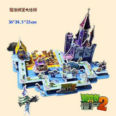 Large Plants vs Zombies 3D Puzzle 3D Pirate Ship Kung Fu World Educationalld Toy