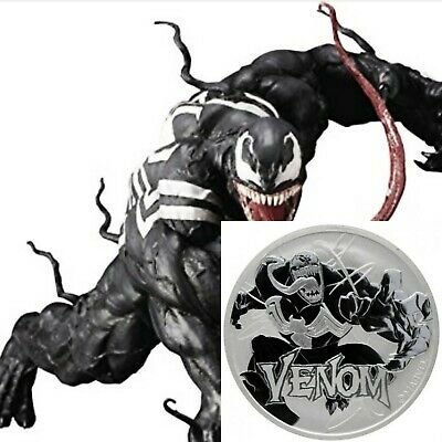 2020 Tuvalu Venom 1 oz .999 Fine Silver Marvel Series $1 Coin in hand to ship.