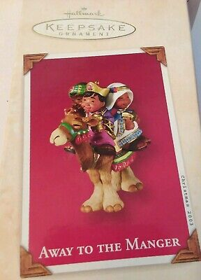 """Collectable Hallmark 2003 Christmas Ornament """"Away To The Manger"""" Child Kings"""