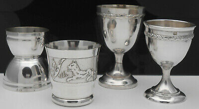 Collection Of Vintage & Antique French Silver / Silverplate Egg Cups