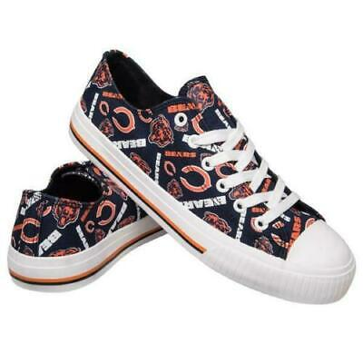 NFL Women's Low Top Repeat Canvas Shoes Chicago Bears Size 8