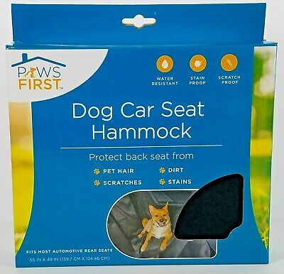 "New!! Paws First Dog Car Seat Hammock 55""x49"" Water Stain Resistant Seat Cover!!"